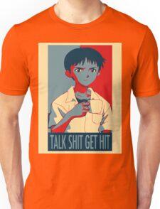 Shinji Ikari - Talk Shit Get Hit Unisex T-Shirt