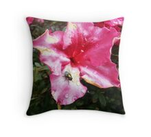 Greenbottle in pink Throw Pillow