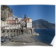 Beach view from Atrani Poster