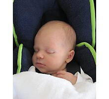 Our new Grt. Grandchild 'Logan' 2 weeks old. Photographic Print