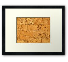 Ancient Stone Blocks Background Framed Print
