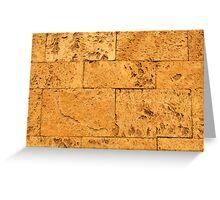 Ancient Stone Blocks Background Greeting Card