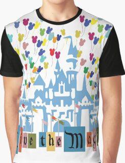Live the Magic - Vintage Castle Graphic T-Shirt