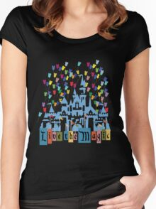Live the Magic - Vintage Castle Women's Fitted Scoop T-Shirt
