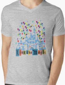 Live the Magic - Vintage Castle Mens V-Neck T-Shirt