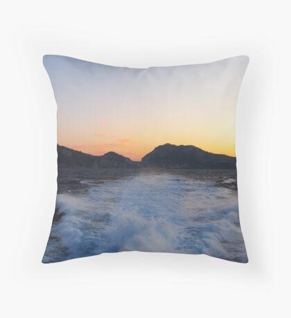 Island Capri at Sunset Throw Pillow