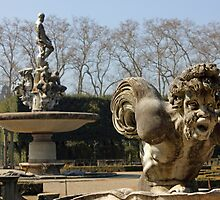 Boboli Gardens in Florence detail of Isolotto by kirilart
