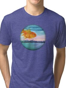 goldfish sunrise Tri-blend T-Shirt