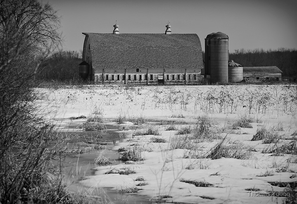 Late Winter at a Wisconsin Farm by Thomas Young