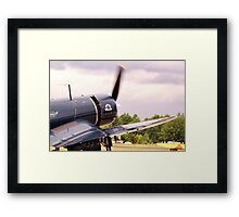 Vought F4u Corsair in action Framed Print