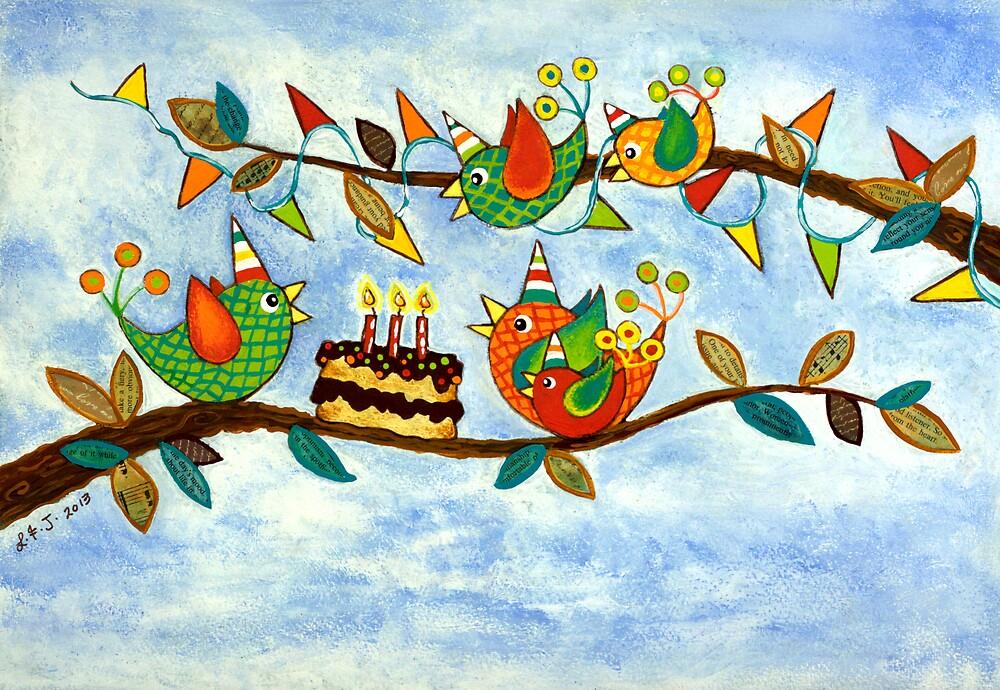 Happy Birdy Birthday by Lisafrancesjudd