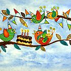 Happy Birdy Birthday by Lisa Frances Judd ~ Original Australian Art