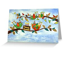 Happy Birdy Birthday Greeting Card