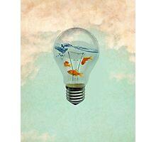 ideas and goldfish Photographic Print