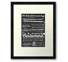 The Rains of Castamere Framed Print