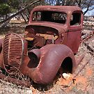 Rusty Past Vintage Car Out Back South Australia by tracie worth