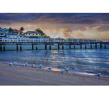 Seagulls like sunrises too Photographic Print