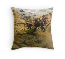 Laguna Beach Rocks Throw Pillow