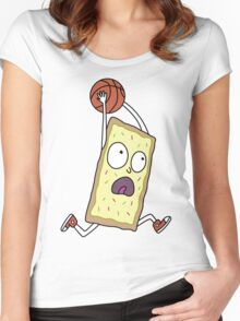 Rick & Morty - Dunking Poptart Women's Fitted Scoop T-Shirt