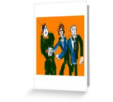 The Deal Went Down Greeting Card
