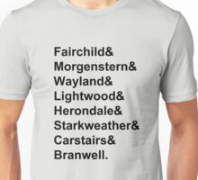 Shadowhunter Names Unisex T-Shirt