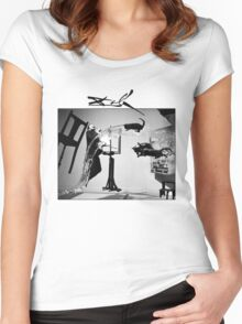 Dali Tshirt - Dali Atomicus T-Shirt by Philippe Halsman  Women's Fitted Scoop T-Shirt