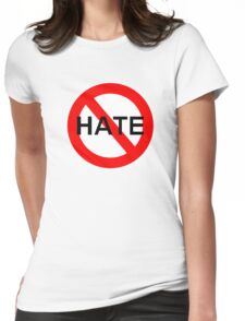 NO HATE Womens Fitted T-Shirt