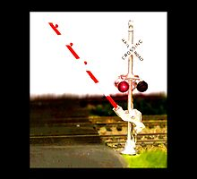 Railroad Crossing Signals And Railroad Tracks by jerry2011