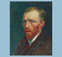 Vincent van Gogh - Self Portrait - Auto Portrait tshirt Kids Clothes