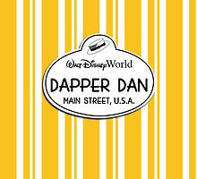 WDW Dapper Dans Name Tag - Orange by jdotcole