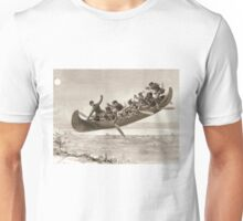 La chase galerie by Henri Julien - Tshirt - The Bewitched Canoe - The Flying Canoe Unisex T-Shirt