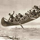 La chase galerie by Henri Julien - Tshirt - The Bewitched Canoe - The Flying Canoe by lapart