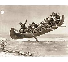 La chase galerie by Henri Julien - Tshirt - The Bewitched Canoe - The Flying Canoe Photographic Print
