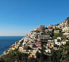 Positano on Amalfi Coast by kirilart