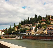 Verona view toward Castel San Pietro by kirilart