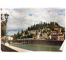 Verona view toward Castel San Pietro Poster