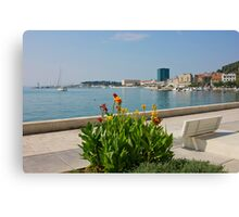 The Riva Split Waterfront in a bright sunny day Canvas Print