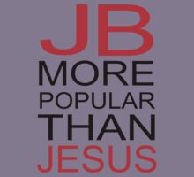Justin Bieber T Shirt - JB is more popular than jesus Kids Clothes