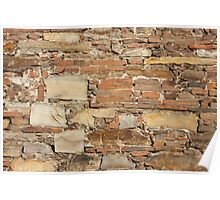 Ancient church wall background Poster