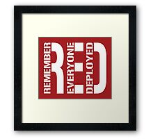 RED - Red on Fridays Framed Print