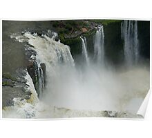 Flying over the Iguassu Falls Poster