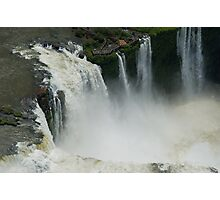 Flying over the Iguassu Falls Photographic Print