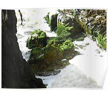 Mossy Rocks on Stradbroke Poster