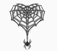 Gothic Spider Web Heart Men's Baseball ¾ T-Shirt