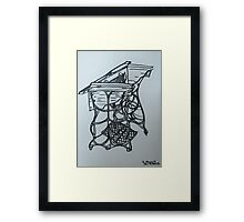 Old Sewing Machine Base Framed Print