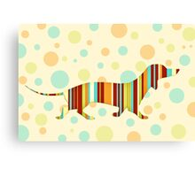 Dachshund Fun Colorful Abstract Canvas Print