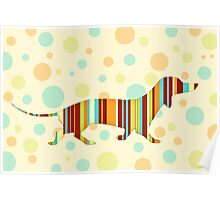 Dachshund Fun Colorful Abstract Poster