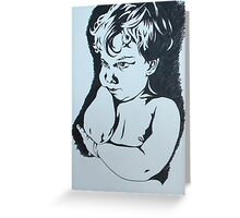 Tyler Twotone Greeting Card