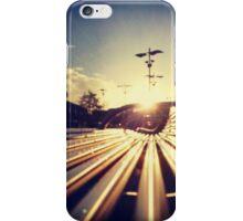 Good Morning Sunderland - Sunrise through a Bench iPhone Case/Skin