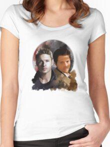 Cas & Dean Women's Fitted Scoop T-Shirt